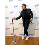 """Dancing with the Stars"" sensation Maksim Chmerkovskiy partners with Swiffer to celebrate the iconic brand's 18th birthday, Thursday, March 16, 2017, in New York.  (Photo by Diane Bondareff/Invision for Swiffer/AP Images)"