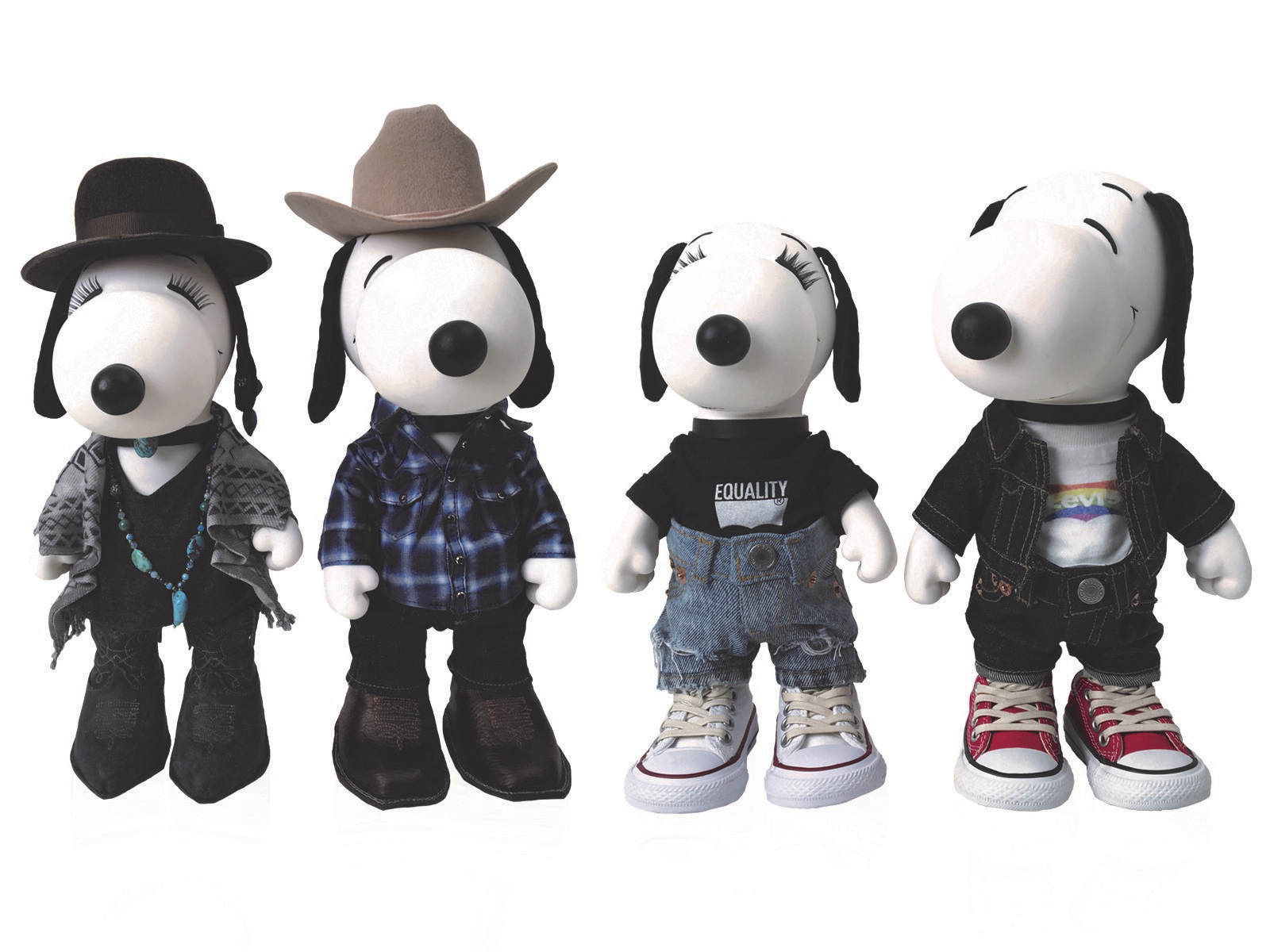 "Stetson and Levi's® dolls will debut at the opening of the ""Snoopy & Belle In Fashion"" exhibit at the Cherry Creek Mall on March 17. (Photo: Business Wire)"