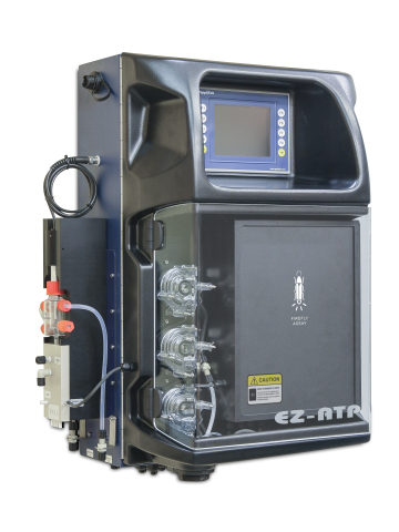 Promega Corporation and AppliTek are teaming to offer advanced technology for microbial pathogen monitoring of process water and drinking water sources. The EZ-ATP® On-line Microbiology Analyzer by AppliTek now uses highly sensitive Promega ATP Water Glo™ reagent to determine microbial pathogen load in water through measurement of adenosine triphosphate (ATP). (Photo: Business Wire)