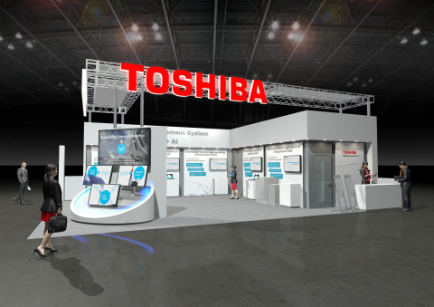 Toshiba's booth image at CeBIT 2017 (Graphic: Business Wire)