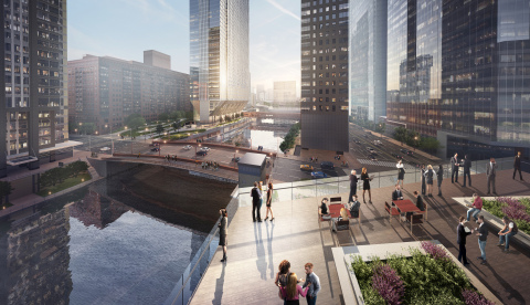110 North Wacker Drive, Terrace; image © Goettsch Partners
