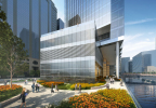 110 North Wacker Drive, Riverwalk; image © Goettsch Partners