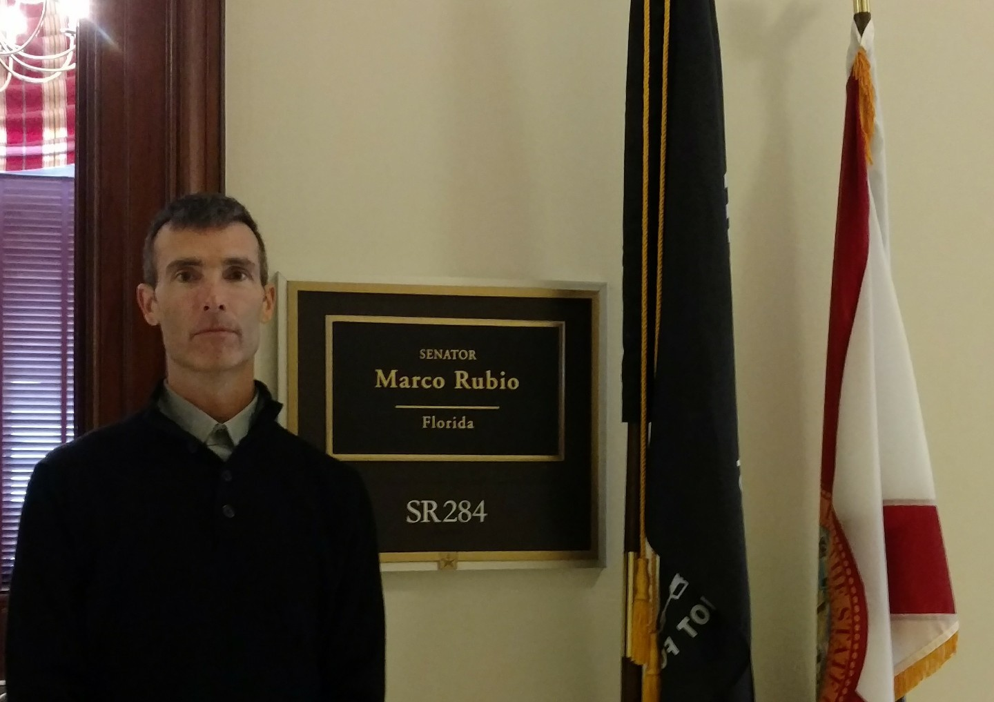 America's child protector and SubscriberWise founder David E. Howe at the Office of United States Senator Marco Rubio, Washington, D.C. (Photo: Business Wire)