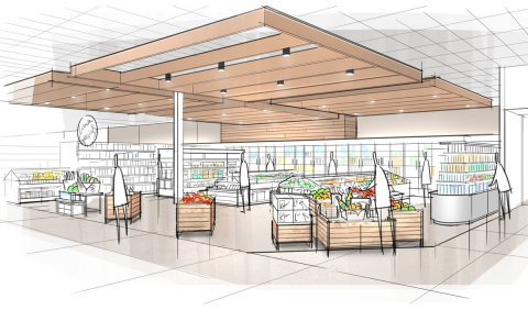 An enhanced grocery department design will feature woodgrain fixtures, a robust assortment of fresh produce as well as quick grab-and-go options and meal solutions. (Photo: Business Wire)