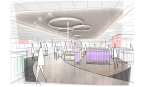 New for Target, curved, more circular center aisles will feature merchandise displays to engage guests with compelling products in unexpected places. (Photo: Business Wire)