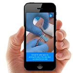 The APPlause Mobile Application brings phlebotomy safety into the palm of your hand. This innovative technology is the first of its kind to combine training and technology for blood collection. (Photo: Business Wire)