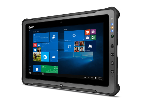 The Getac F110 G3 rugged tablets will be used to capture important UID data about active service personnel and reserves using the tablet's built-in barcode reader. (Photo: Business Wire)