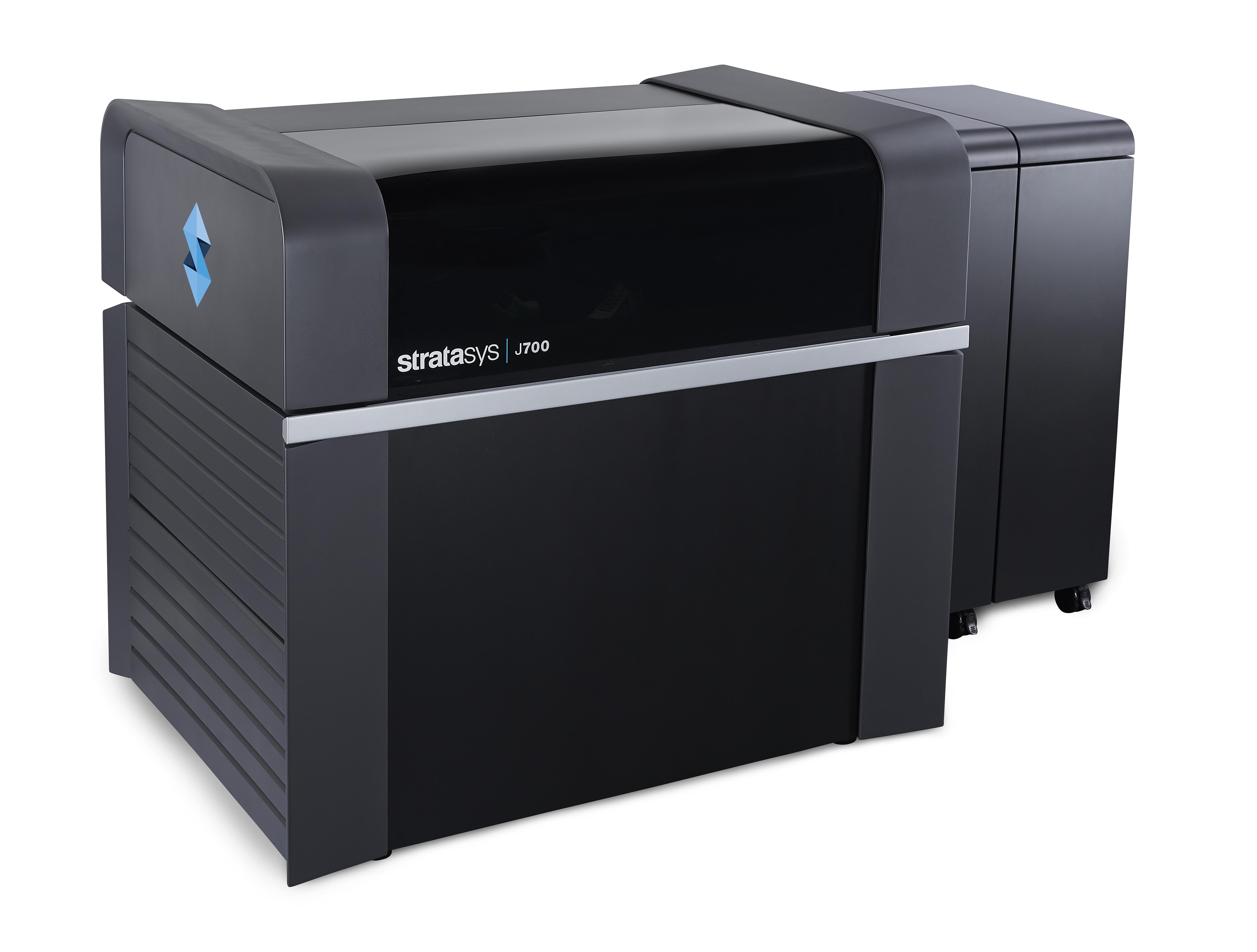 The Stratasys J700 Dental™ offers high throughput with lab production rates of more than 400 clear aligner molds per day (Photo: Stratasys Ltd.)