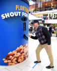 Jim Harbaugh participates in Planters 'Shout For Nuts' at Westfield Culver City. (Photo by Michael Kovac/Getty Images for Planters)