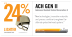 Above: Through advanced material applications and innovative manufacturing, Revision's ACH Gen II helmet solution offers up to 24% weight reduction as compared to the legacy ACH helmets currently fielded by the U.S. Army. (Graphic: Business Wire).
