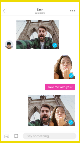 PicsArt Stickers in Remix Chat Conversation (Graphic: Business Wire)