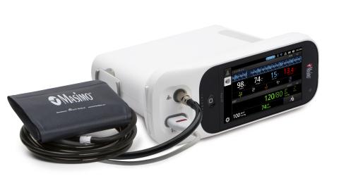搭载无创血压测量功能的Rad-97™ 脉搏碳氧-氧饱和度仪®和互通接口(照片:美国商业资讯)