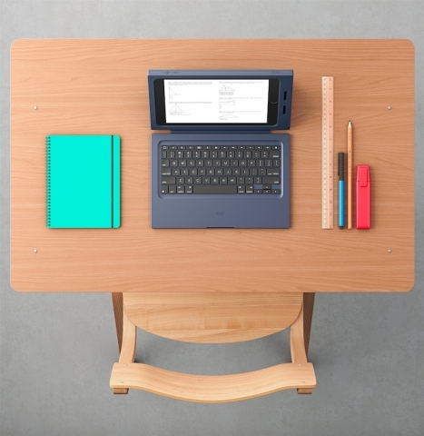 The Logitech Rugged Combo offers drop protection plus a detachable front cover keyboard so students can use iPad everywhere learning happens - in the classroom, in the field and in the lab. (Photo: Business Wire)