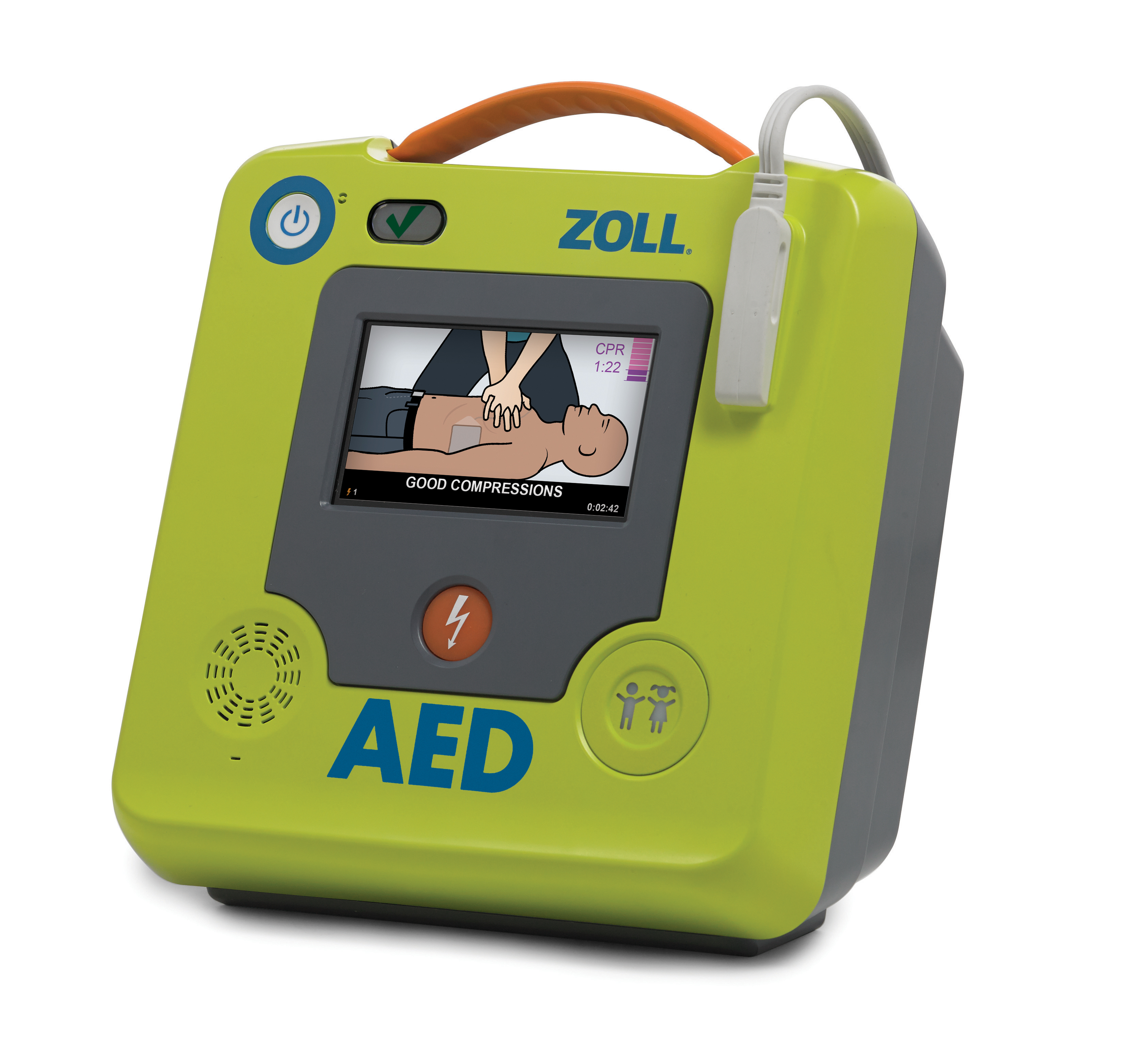 The new ZOLL AED 3 with enhanced Real CPR Help guides rescuers to provide high-quality CPR (Photo: Business Wire)