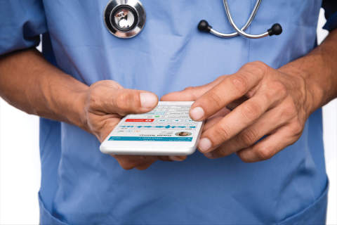 EHR documentation without limits. With Mobile Scribe, physicians engage with remote documentation specialists to complete clinical narratives and structured data inside the EHR - anywhere, anytime. (Photo: Business Wire)
