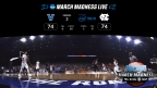 This is the virtual reality view of the NCAA March Madness Live VR app powered by Intel True VR. For the first time, fans can purchase virtual tickets to watch select March Madness games live in VR. (Credit: Turner Sports)
