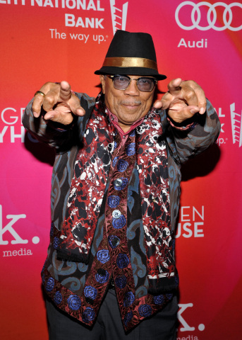 Quincy Jones at the Geffen Playhouse's 15th Annual Backstage at the Geffen fundraiser on March 19, 2017 (Photo: Business Wire)