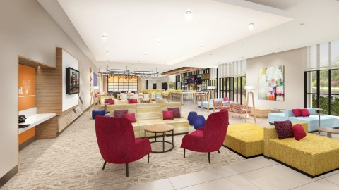 The bloom-inspired lobby of the new Hilton Garden Inn North American prototype, Magnolia. Hilton Garden Inn announced six region-specific hotel prototypes to fuel its global growth and better meet developers' needs. (Photo: Business Wire)