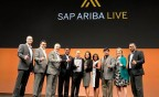 Executives from SAP Ariba and Accenture accept the SAP Ariba #MakeProcurementAwesome award for Premier Partner at SAP Ariba Live (Photo: Business Wire)