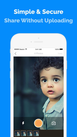 The Picaboo application allows users to instantly exchange hundreds of photos with friends without uploading or sending your photos anywhere. (Graphic: Business Wire)