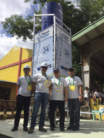 Watts Sponsors Water Filtration Tower at Elementary School in the Philippines on World Water Day (Ph ...