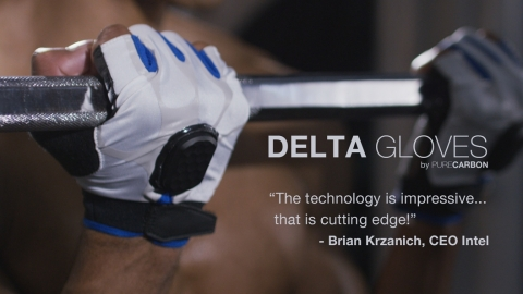 The Delta Gloves help users achieve their fitness goals. (Photo: Business Wire)