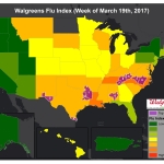 Walgreens Flu Index (Week of March 19, 2017) (Graphic: Business Wire)