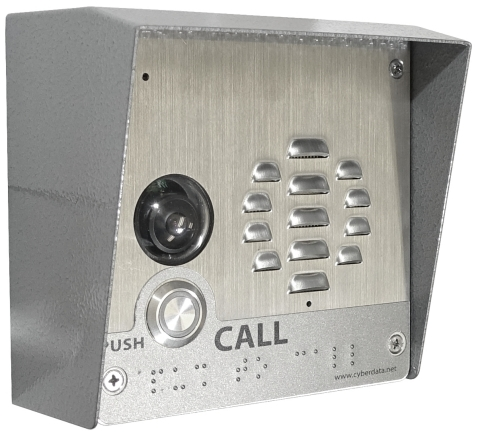 CyberData's Newest Release: SIP-enabled Outdoor Video Intercom. Keypad Version Also Available (Photo: Business Wire)