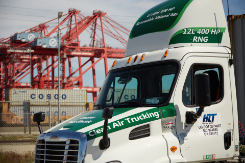 A TTSI Port Drayage Truck Makes a Container Delivery at the Port of Los Angeles. (Photo: Business Wire)