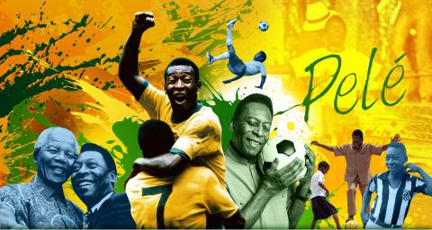 巴西足球傳奇巨星比利(照片:美國商業資訊)