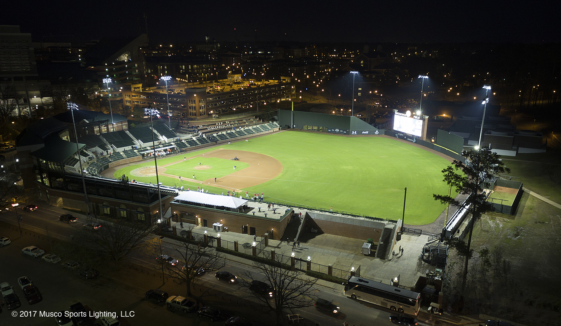 Musco's Total Light Control—TLC for LED™ technology improves energy efficiency and player visibility, backed by a 25-year warranty. (Photo: Musco Lighting)