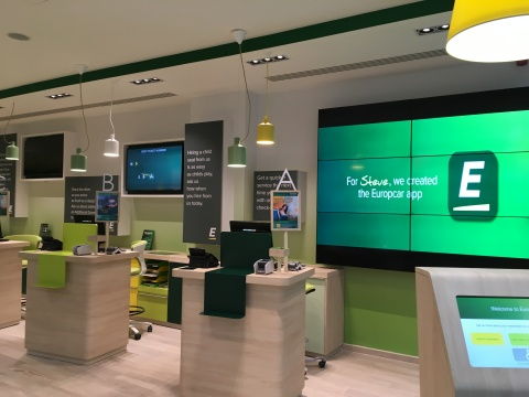 Europcar Group Unveils a New Flagship Station in Brussels, Highlighting Its Strategy in the New Mobility Market (Photo: Europcar)