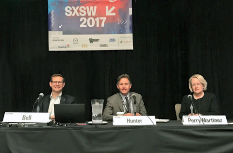 Jeff Bell, Michael Hunter and Judy Perry Martinez (Photo: Business Wire)
