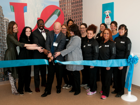 Philadelphia civic leaders, donors, pet owners, neighbors, and friends celebrate the grand opening of Emancipet, the new, nonprofit, low-cost pet health clinic. (Photo by Steve Lubetkin for Emancipet.)