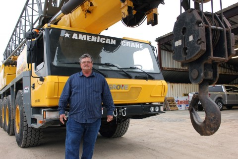 Ronald Naron, president of American Crane in West Monroe, Louisiana, is adding to his fleet of cranes, thanks to a $20,000 grant from FHLB Dallas and Centric Federal Credit Union. (Photo: Business Wire)