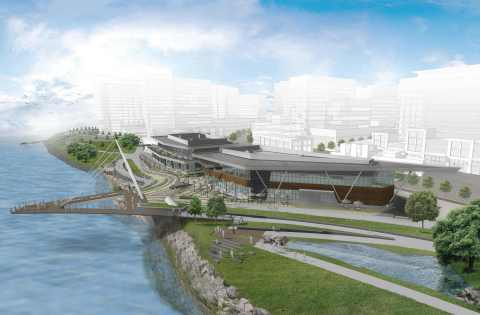 Rendering of The Waterfront Vancouver's Grant Street Pier in Vancouver, Washington. (Graphic: Business Wire)