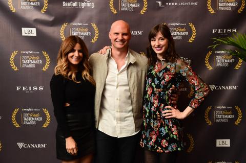 Judges of the 2017 Wayfair Trade Tastemaker Awards (L-R) Alison Victoria, Chip Wade, Sabrina Smelko  ...
