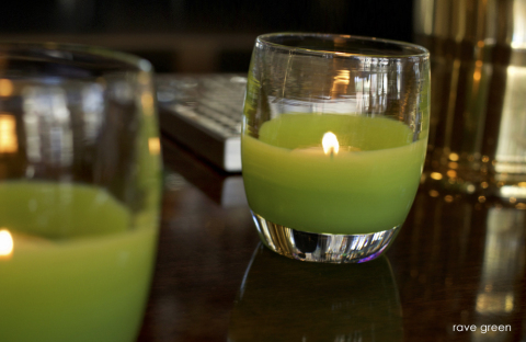 """glassybaby introduces their newest votive """"rave green,"""" benefiting Seattle Sounders FC's RAVE Foundation. (Photo: Business Wire)"""