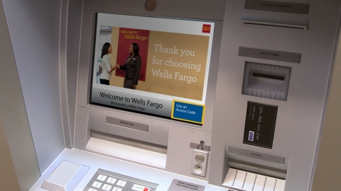 "A Wells Fargo ATM featuring the ""Use an Access Code"" button. (Photo: Business Wire)"