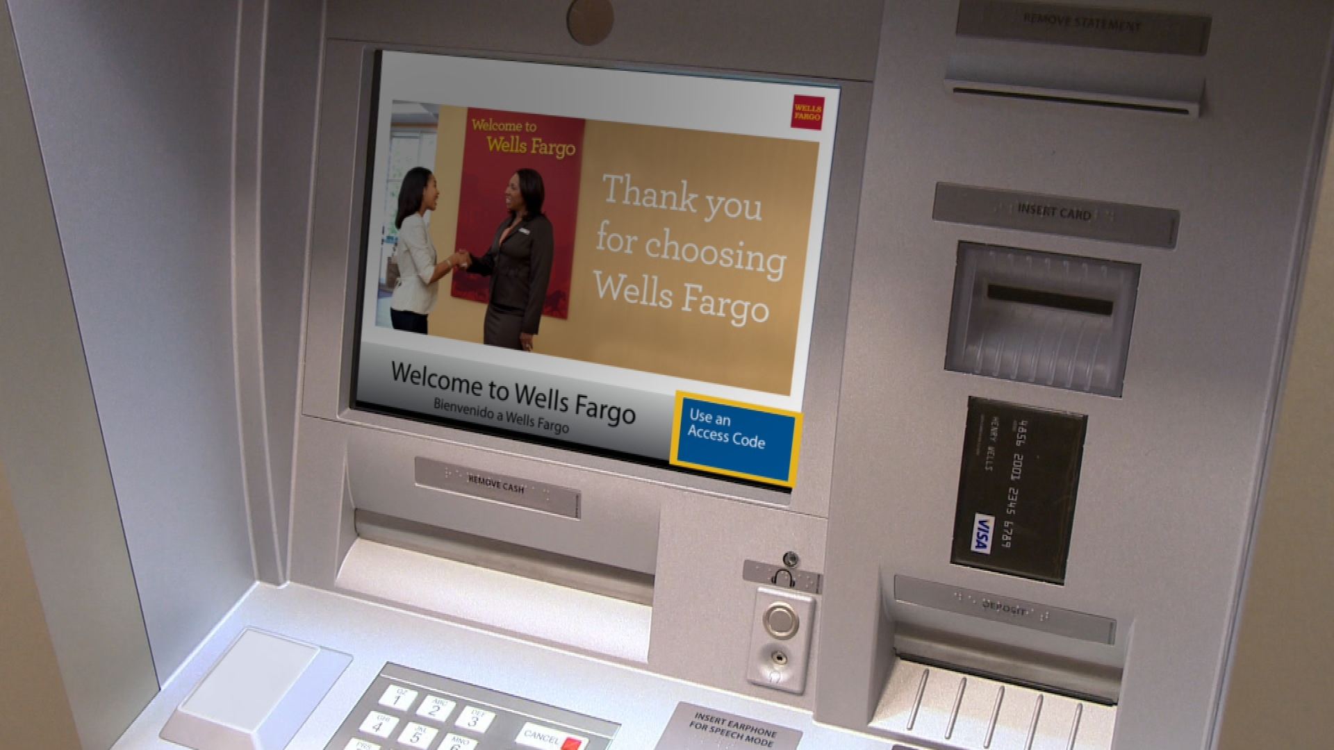 Wells Fargo Launches 13,000 Card-Free ATMs for Its 20 Million Mobile