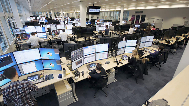 Trading Floor at Swiss Bank