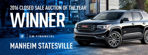 2016 Closed Sale Auction of the Year Winner - Manheim Statesville (Photo: Business Wire)