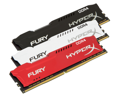 HyperX is now shipping FURY DDR4 memory with new speeds and colors. (Photo: Business Wire)