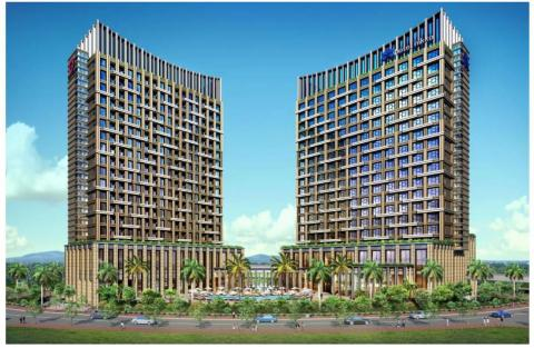 Rendition of Hotel Nikko Hai Phong (right-side building) (Graphic: Business Wire)