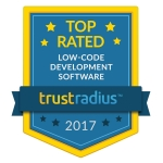 OutSystems Named a 2017 Top Rated Low-Code Platform on TrustRadius (Photo: Business Wire)
