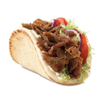 Arby's Traditional Greek Gyro features a blend of beef, lamb and Mediterranean spices sliced from a spit rotisserie and placed on a warm flatbread with lettuce, tomatoes, red onions, tzatziki sauce and Greek seasoning. (Photo: Business Wire)
