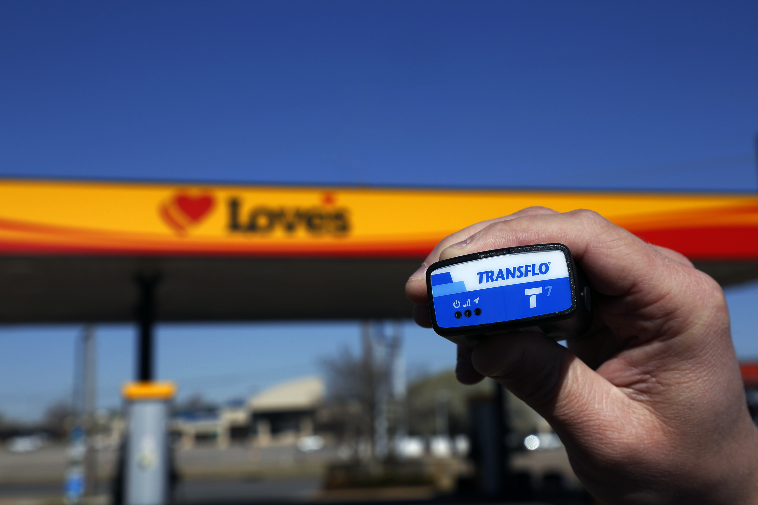 Transflo ELD T7 at Love's (Photo: Business Wire)