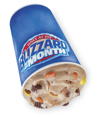 DQ has combined Reese's Peanut Butter Cups and Reese's Pieces with its signature soft serve to create the new Reese's Extreme Blizzard® Treat. (Photo: Business Wire)