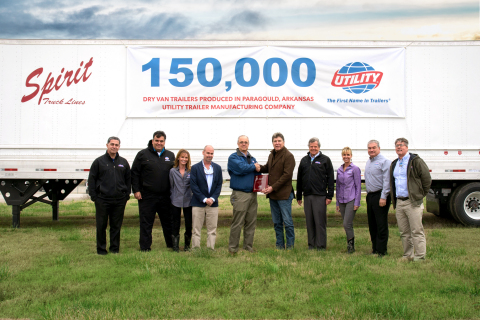 Pictured left to right: Tony Afarian, Utility Trailer Manufacturing Co.; David Escobar, Utility Trailer Sales Southeast Texas, Inc.; Leslea Loring Murillo, Utility Trailer Sales Southeast Texas, Inc.; Jonny Loring Jr, Utility Trailer Sales Southeast Texas, Inc.; Jeff Bennett, Utility Trailer Manufacturing Co.; Raul Garza, Spirit Truck Lines; Hal Bennett, Utility Trailer Manufacturing Co.; Missy Loring Meza, Utility Trailer Sales Southeast Texas, Inc.; John Harris, Utility Trailer Manufacturing Co.; David Neighbors, Utility Trailer Manufacturing Co. (Photo: Business Wire)