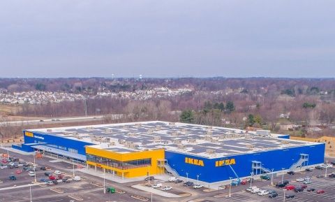 IKEA completes one of Ohio's largest rooftop solar arrays on future IKEA Columbus, opening Summer 2017. (Photo: Business Wire)